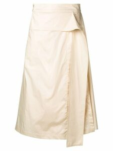 Sportmax cream pleated skirt - Neutrals