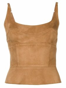 Ermanno Scervino leather top - Brown