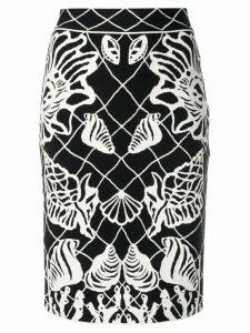 Alexander McQueen intarsia-knit skirt - Black