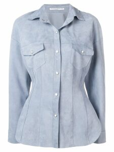Ermanno Scervino nubuck jacket - Blue