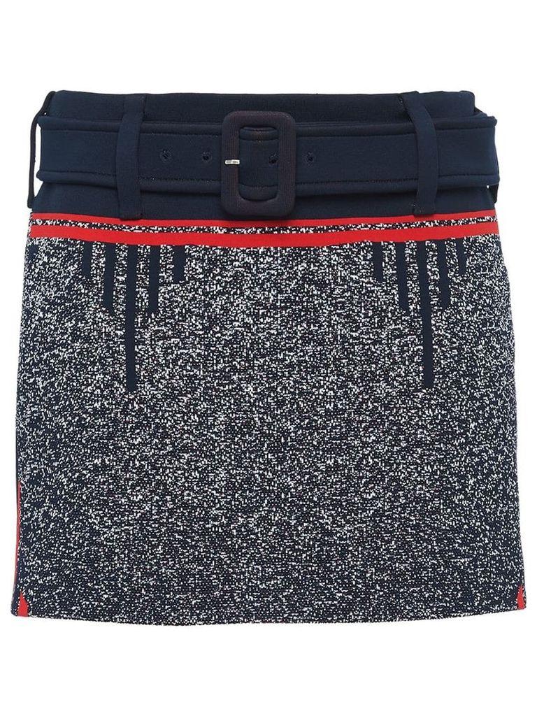 Prada technical mouliné jacquard skirt - Blue