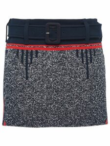 Prada technical mouliné jacquard skirt - Blue