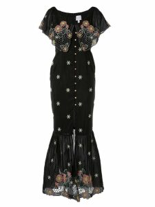 Alice Mccall 'Honeycomb Daisy' midi dress - Black