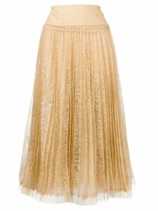 Ermanno Scervino pleated lace skirt - Neutrals