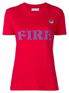 Chiara Ferragni fire print T-shirt - Red