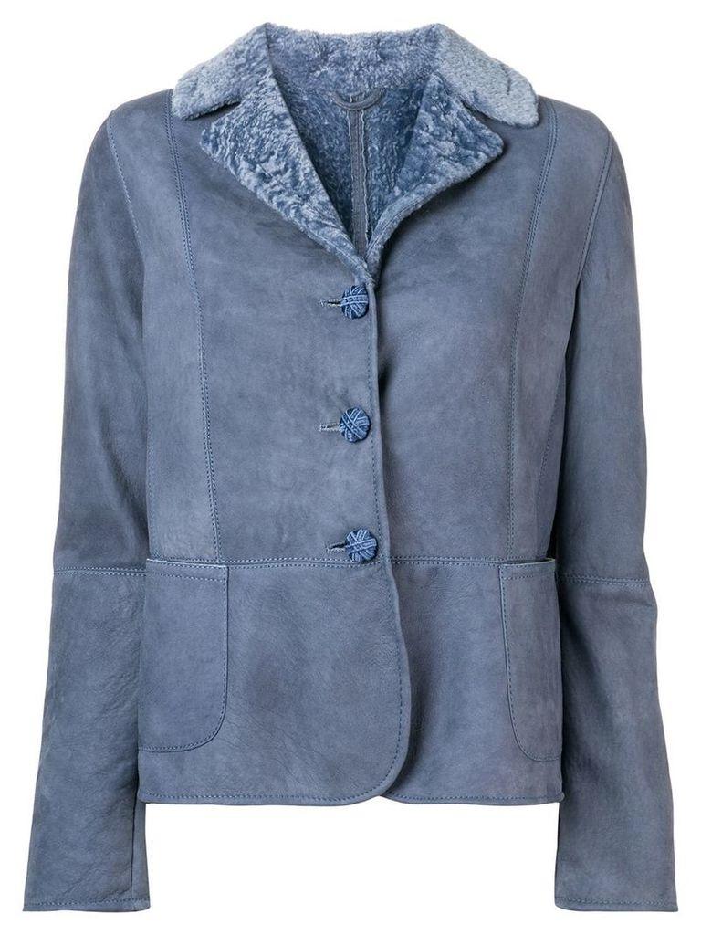 Ermanno Scervino nubuck jacket - Blue