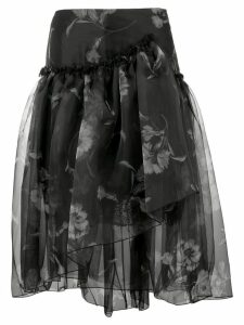 Ermanno Scervino floral print full skirt - Black