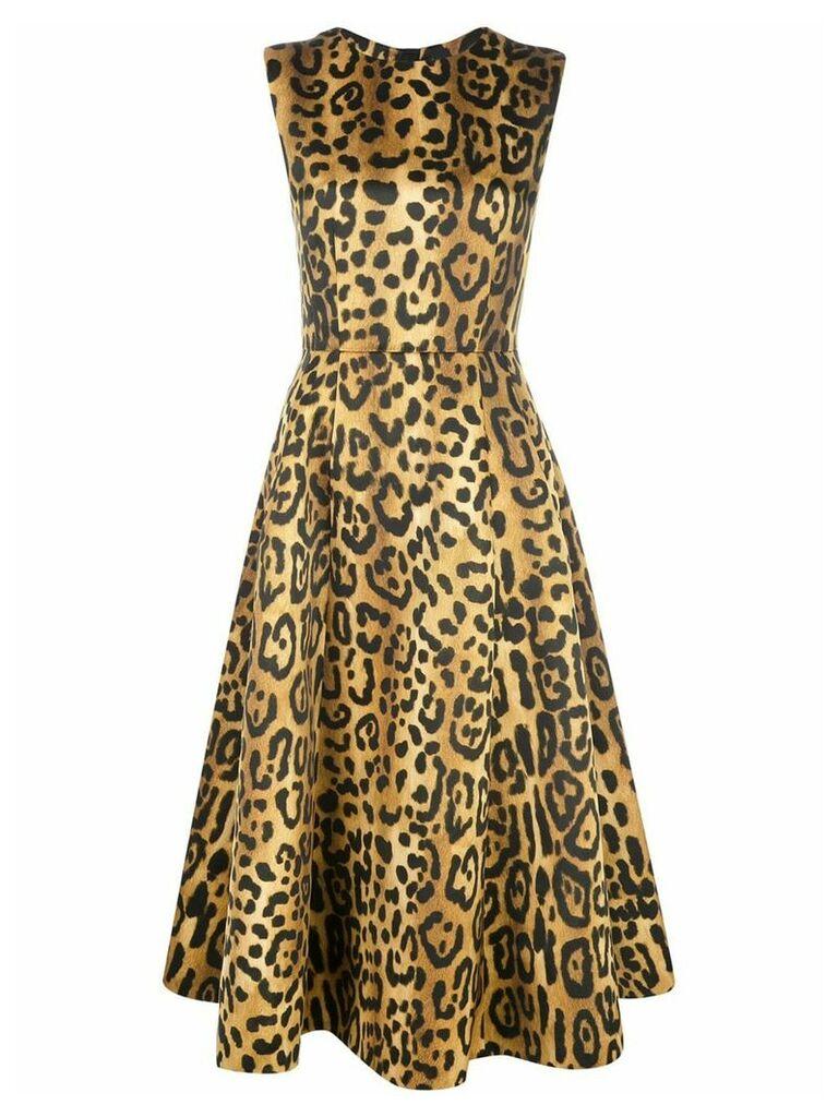 Adam Lippes leopard print dress - Orange
