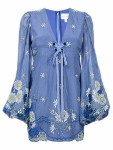 Alice Mccall Honeycomb Daisy mini dress - Blue