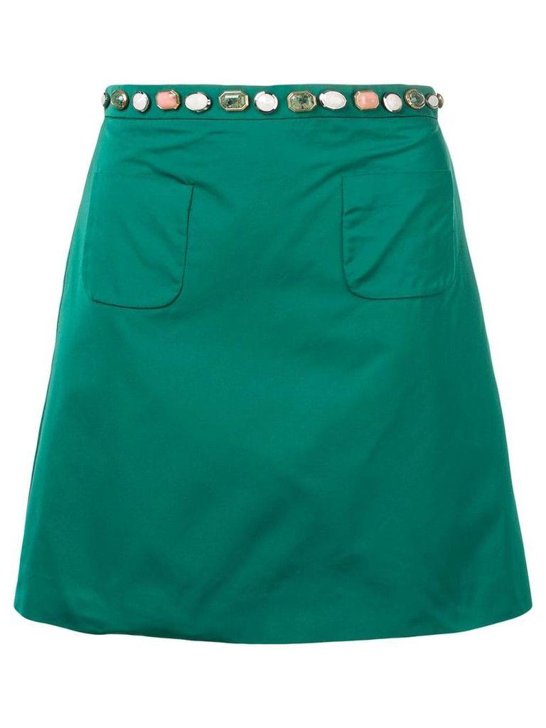Nº21 gem embellished skirt - Green