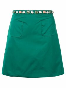 Nº21 gem embellished skirt - Green