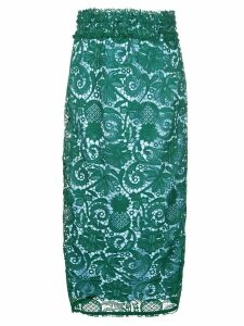 Nº21 patterned pencil skirt - Green