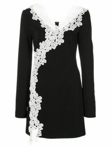 David Koma lace embellished dress - Blue