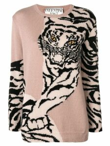 Valentino tiger pattern sweater - Neutrals