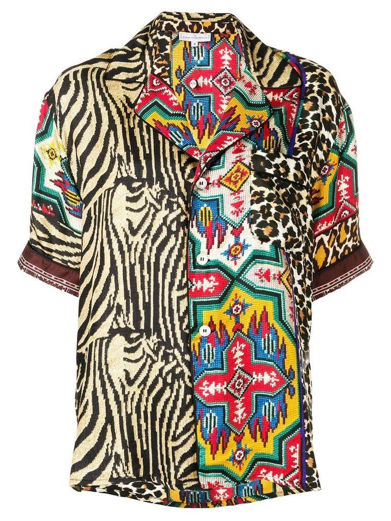 Pierre-Louis Mascia printed blouse - Brown