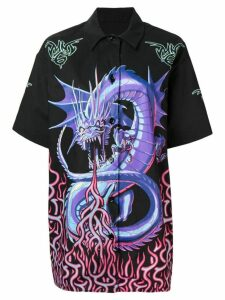 Mm6 Maison Margiela printed dragon shirt - Black