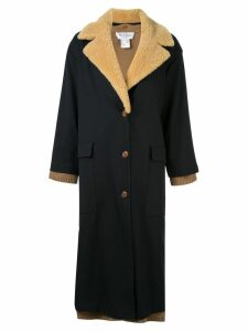 We11done layered single-breasted coat - Black