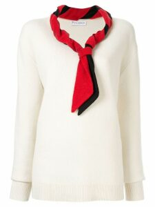 JW Anderson scarf detail sweater - White