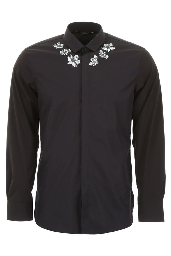 Neil Barrett Flower Print Shirt