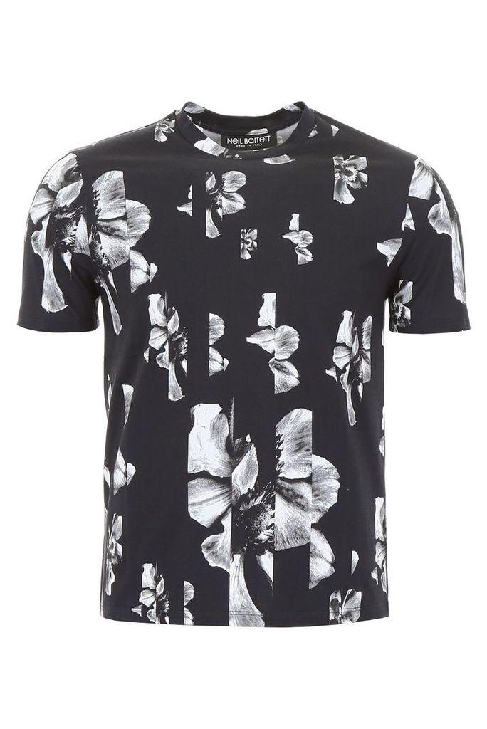 Neil Barrett Floral-printed T-shirt