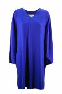 Maison Margiela Blue Jersey Midi Dress