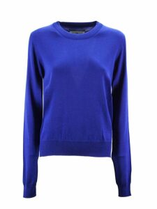 Maison Margiela Sweater In Blue Cotton