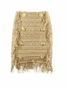 Balmain Short Beige Tweed Skirt