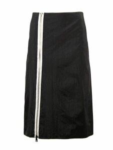 Maison Margiela Black High Rise Midi Skirt