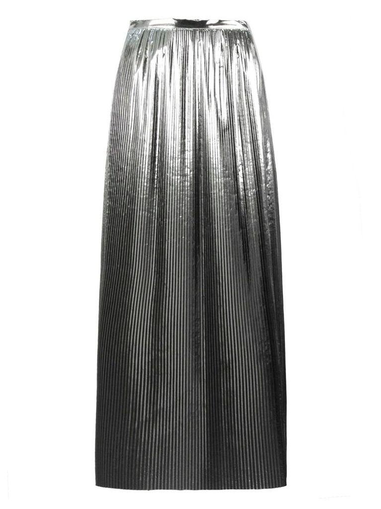 Maison Margiela Silver-tone Midi Skirt