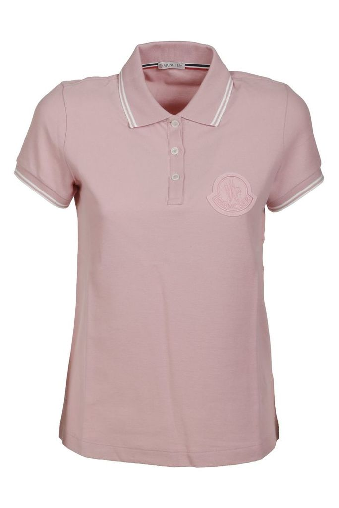 Moncler Embroidered Patch Logo Polo Shirt
