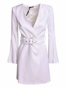 Elisabetta Franchi Celyn B. Belted V-neck Dress