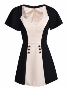 Elisabetta Franchi Celyn B. Bicolor Mini Dress