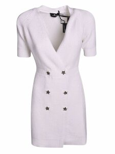 Elisabetta Franchi Celyn B. V-neck Double Breasted Dress