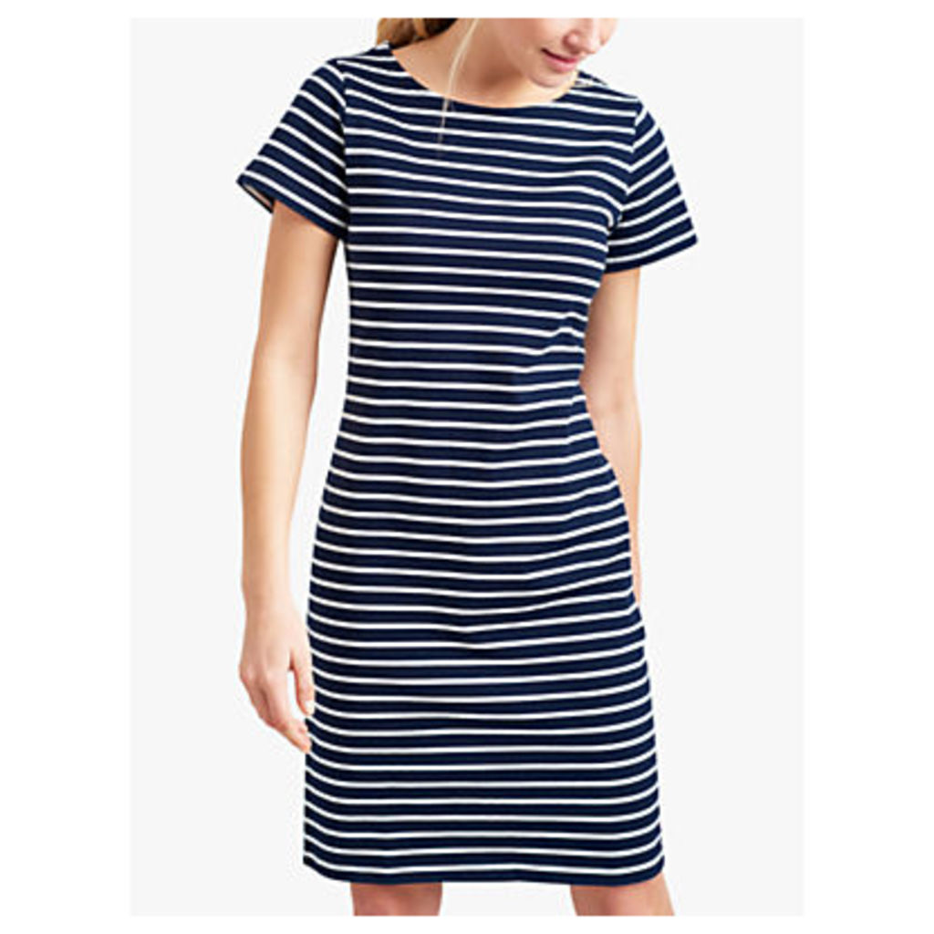 Joules Riviera Long Stripe T-Shirt Dress, Navy/Cream