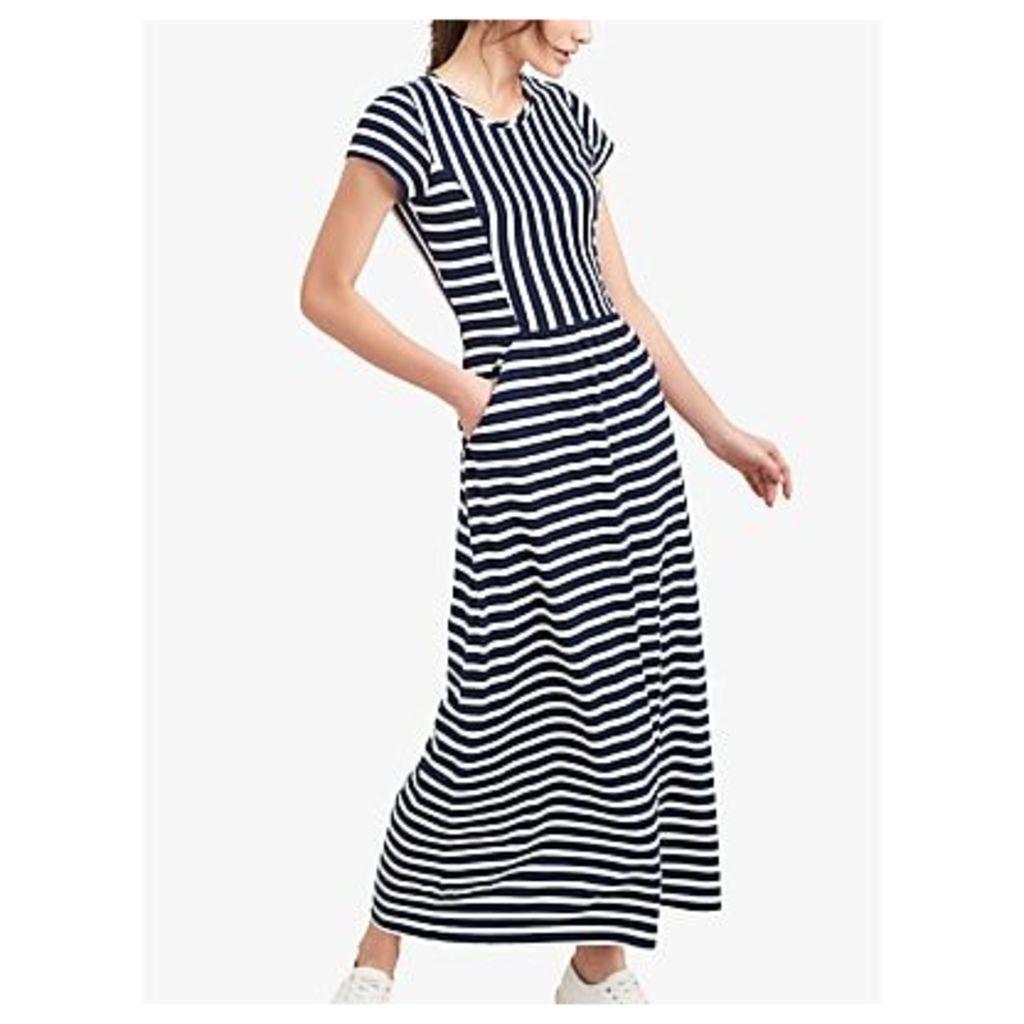 Joules Trudy Stripe Maxi Dress, Cream/Navy