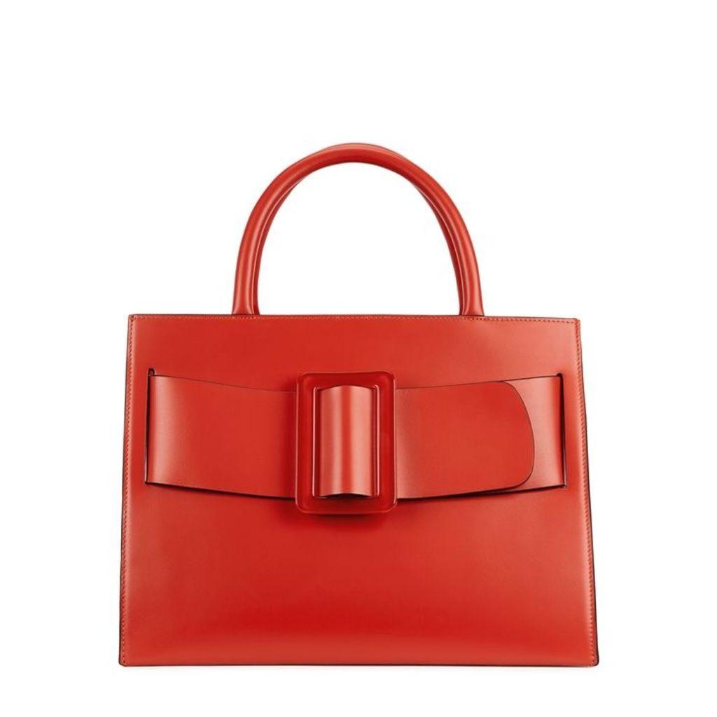 Boyy Bobby Red Leather Top Handle Bag
