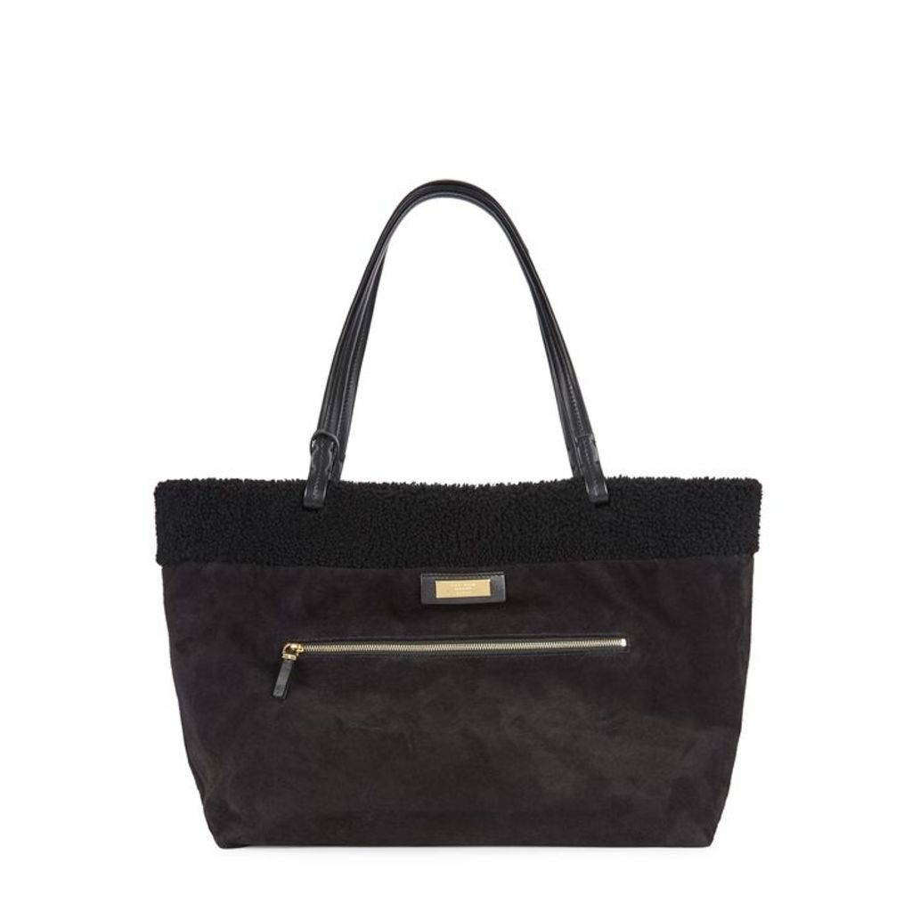 THE ROW Park Black Shearling Tote