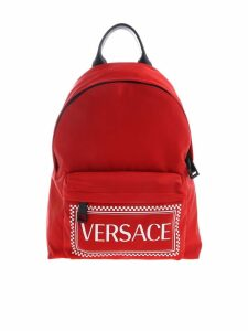 Versace Logo Print Backpack