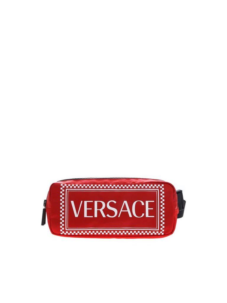 Versace Logo Print Belt Bag