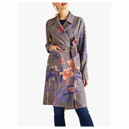 Yumi Floral Wrap Mac, Grey