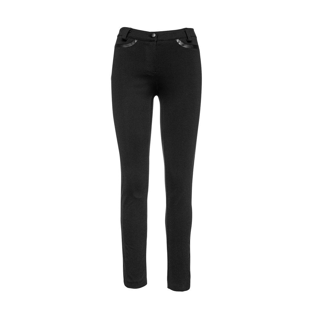 FG Atelier - Topaz Blue Pussy Bow Stretch Silk Shirt