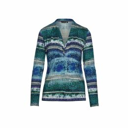 INGMARSON - Bee Embroidered Dropped Shoulder T-Shirt Grey Women