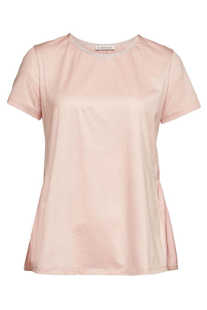 Moncler Cotton T-Shirt with Peplum Back