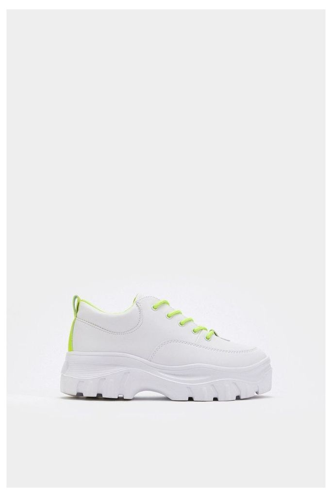 Highlight the Points Chunky Platform Sneakers
