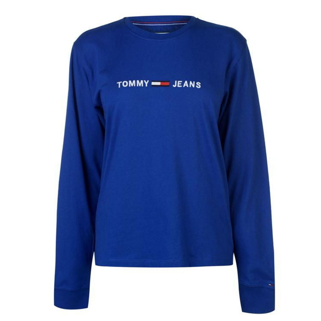 Tommy Jeans Clean Logo Long Sleeve T Shirt