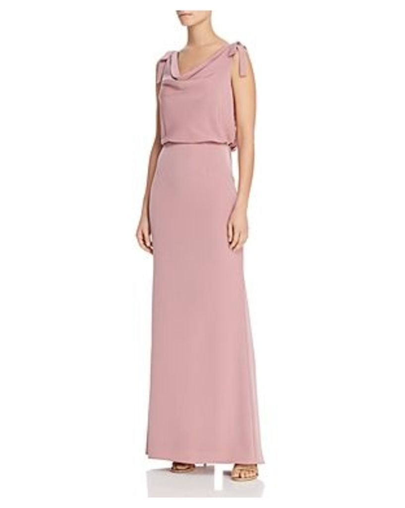 Adrianna Papell Cowl-Neck Crepe Gown