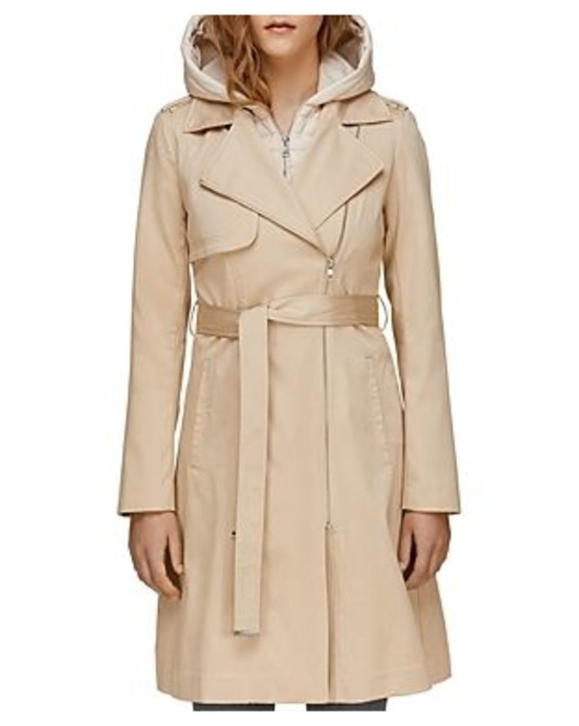 Soia & Kyo Athie Contrast Hooded Raincoat