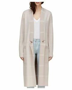 Soia & Kyo Annabella Plaid Long Knit Coat