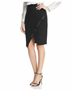 Donna Karan New York Grommet Trim Pencil Skirt