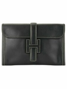Hermès Pre-Owned Jige PM clutch hand bag - Black